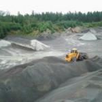 Bergtäkt med upplag